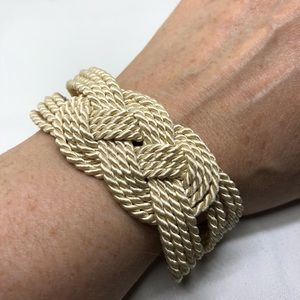 Jewelry - 🆕Cream Silk Sailor's Knot Bracelet from Italy